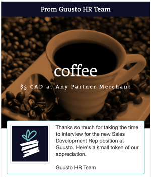 Guusto Coffee Gift Card