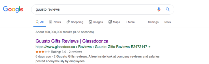 Guusto Early Review Glassdoor-3stars